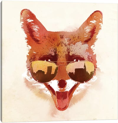 Big Town Fox Canvas Art Print