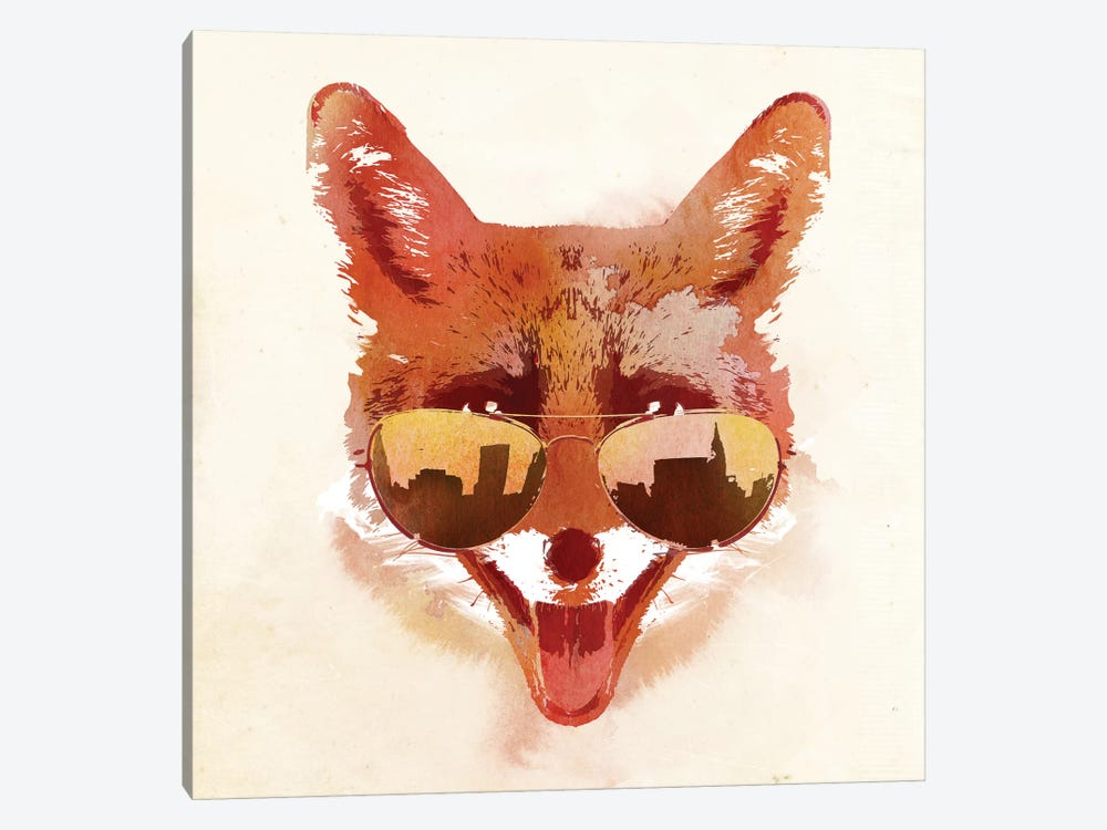 Big Town Fox by Robert Farkas 1-piece Canvas Artwork