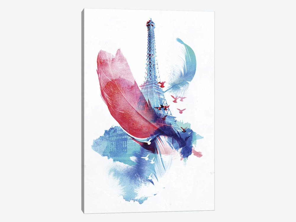 Pigeons of Paris by Robert Farkas 1-piece Canvas Art Print
