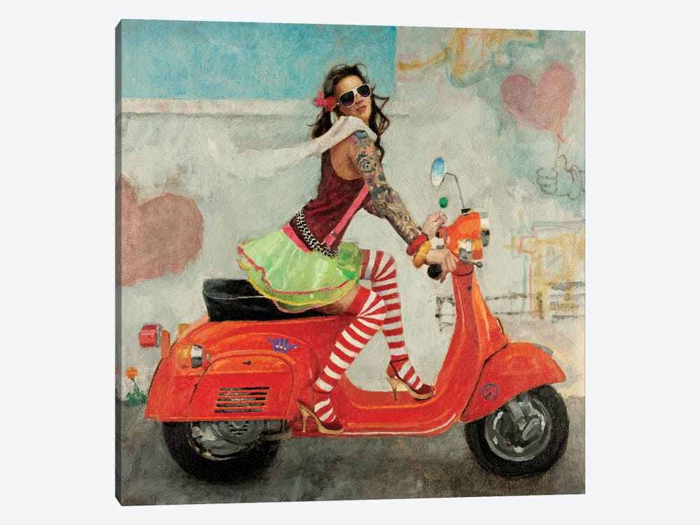 This Is How I Roll by Michael Fitzpatrick 1-piece Canvas Art Print