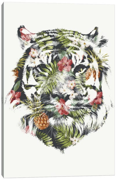 Tropical Tiger Canvas Art Print