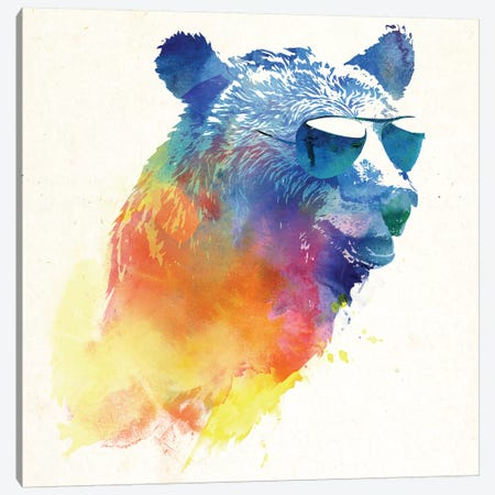 Sunny Bear Canvas Print #ICS206} by Robert Farkas Art Print