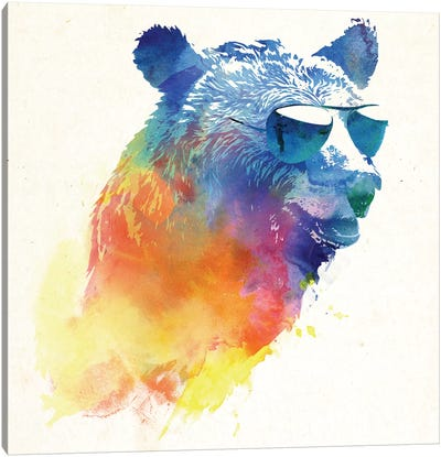 Sunny Bear Canvas Art Print