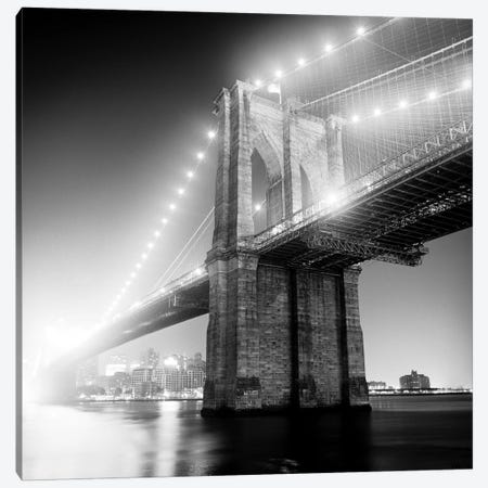Brooklyn Bridge Canvas Print #ICS217} by Adam Garelick Canvas Artwork
