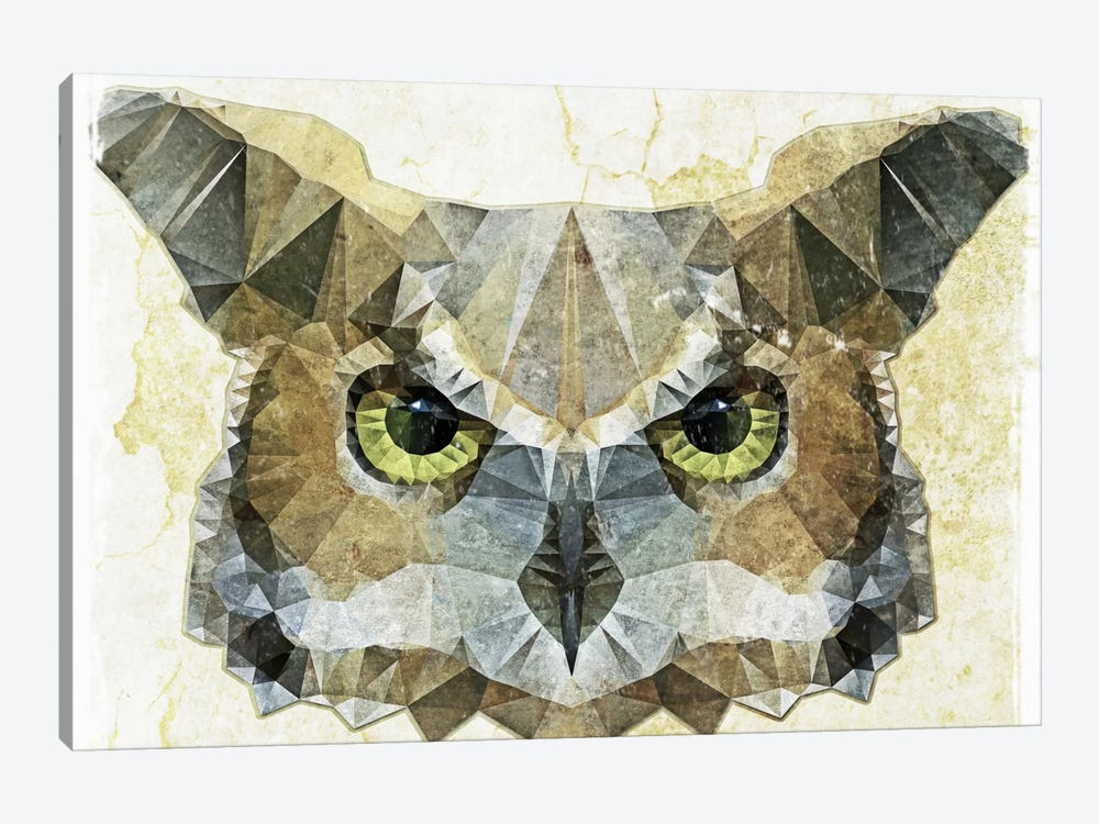 Abstract Owl by Ancello 1-piece Art Print