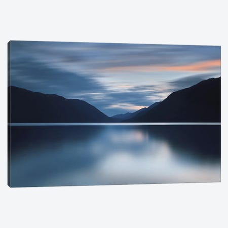 Lake Crescent Dusk Canvas Print #ICS225} by Katherine Gendreau Canvas Art Print