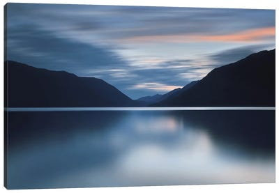 Lake Crescent Dusk Canvas Print #ICS225