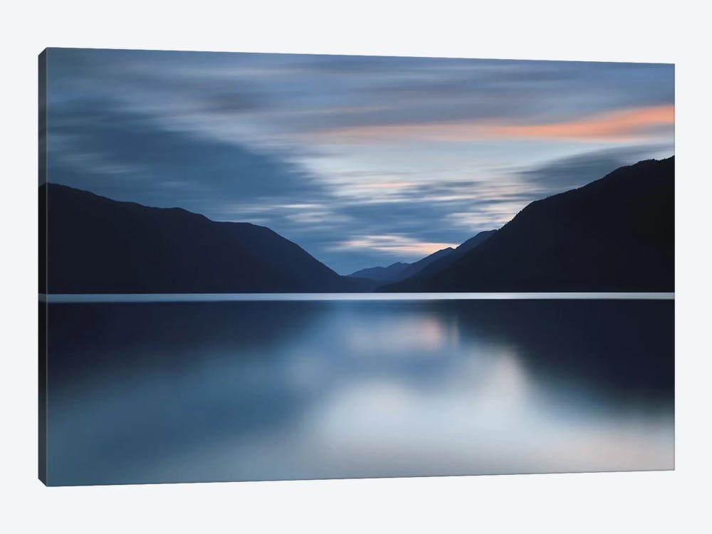 Lake Crescent Dusk by Katherine Gendreau 1-piece Canvas Art