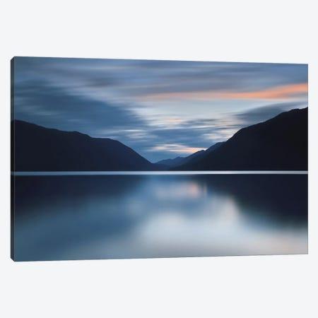 Lake Crescent Dusk Canvas Print #ICS225} by Katherine Gendreau Canvas Art Print