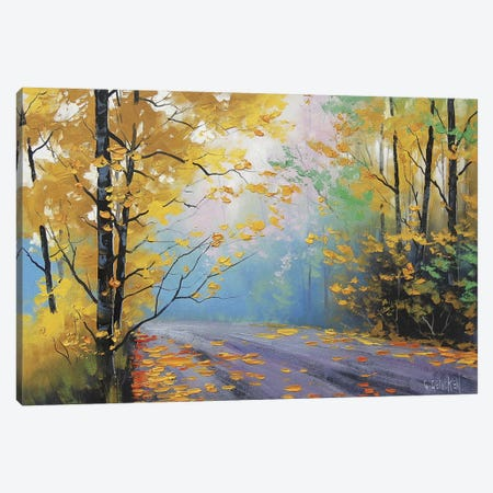 Misty Autumn Day Canvas Print #ICS228} by Graham Gercken Canvas Art