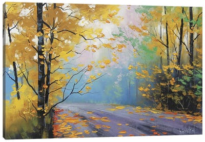 Misty Autumn Day Canvas Art Print