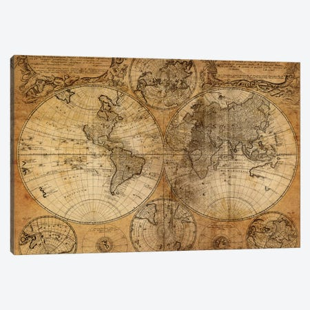 Vintage Map Canvas Print #ICS234} by GraphINC Studio Canvas Wall Art