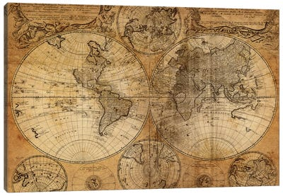 Vintage Map Canvas Art Print