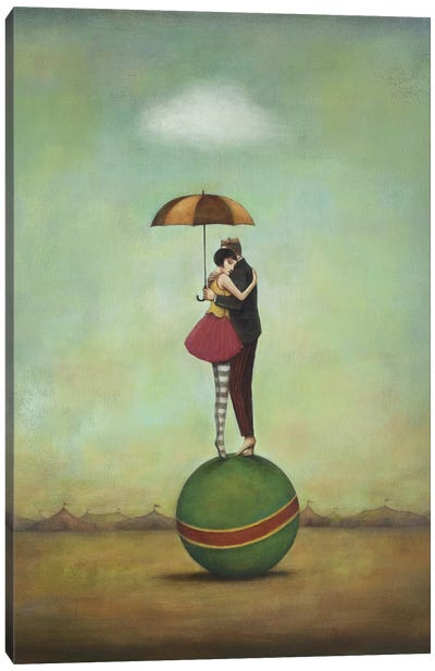 Circus Romance Canvas Art Print
