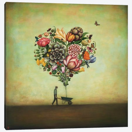Big Heart Botany Canvas Print #ICS263} by Duy Huynh Canvas Wall Art