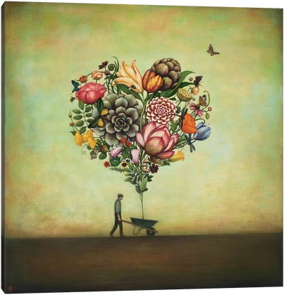 Big Heart Botany by Duy Huynh Canvas Wall Art