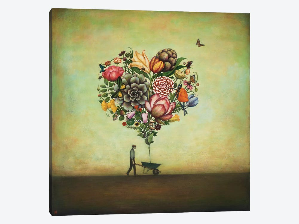 Big Heart Botany by Duy Huynh 1-piece Canvas Artwork