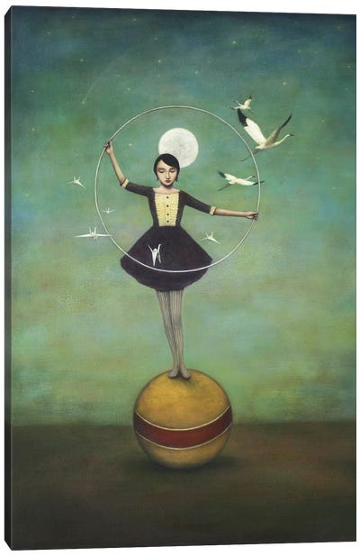 Luna's Circle Canvas Art Print