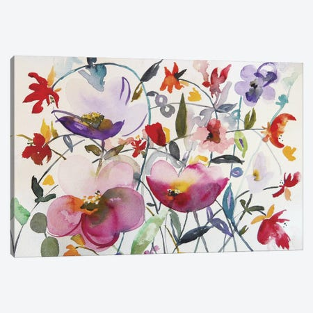 Bohemian Garden Canvas Print #ICS275} by Karin Johannesson Canvas Artwork