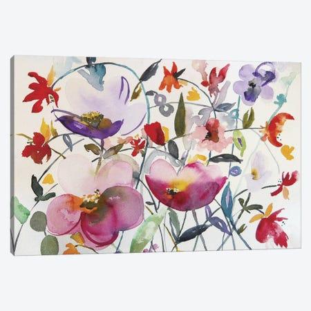 Bohemian Garden Canvas Print #ICS275} by Karin Johannesson Canvas Artwork