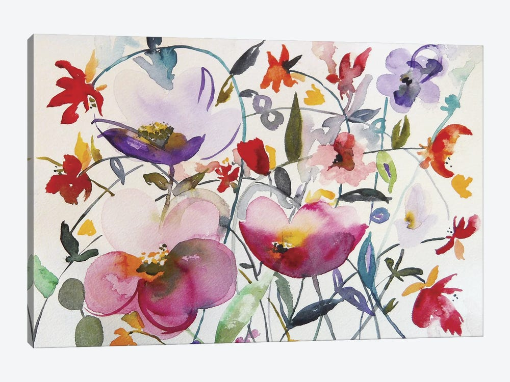 Bohemian Garden by Karin Johannesson 1-piece Canvas Art Print
