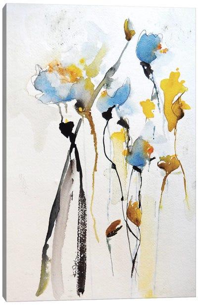 Blue Flowers II Canvas Print #ICS276