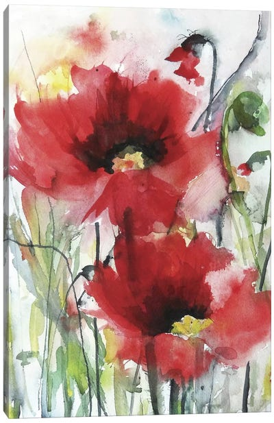 Red Poppies Canvas Art Print