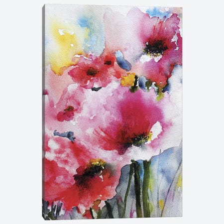 Summer Poppies II Canvas Print #ICS278} by Karin Johannesson Canvas Print