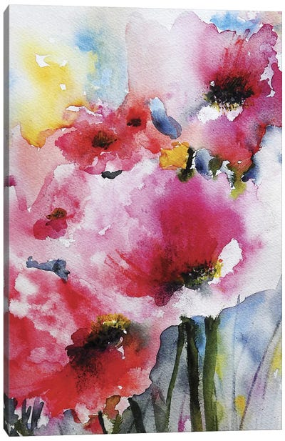 Summer Poppies II Canvas Art Print
