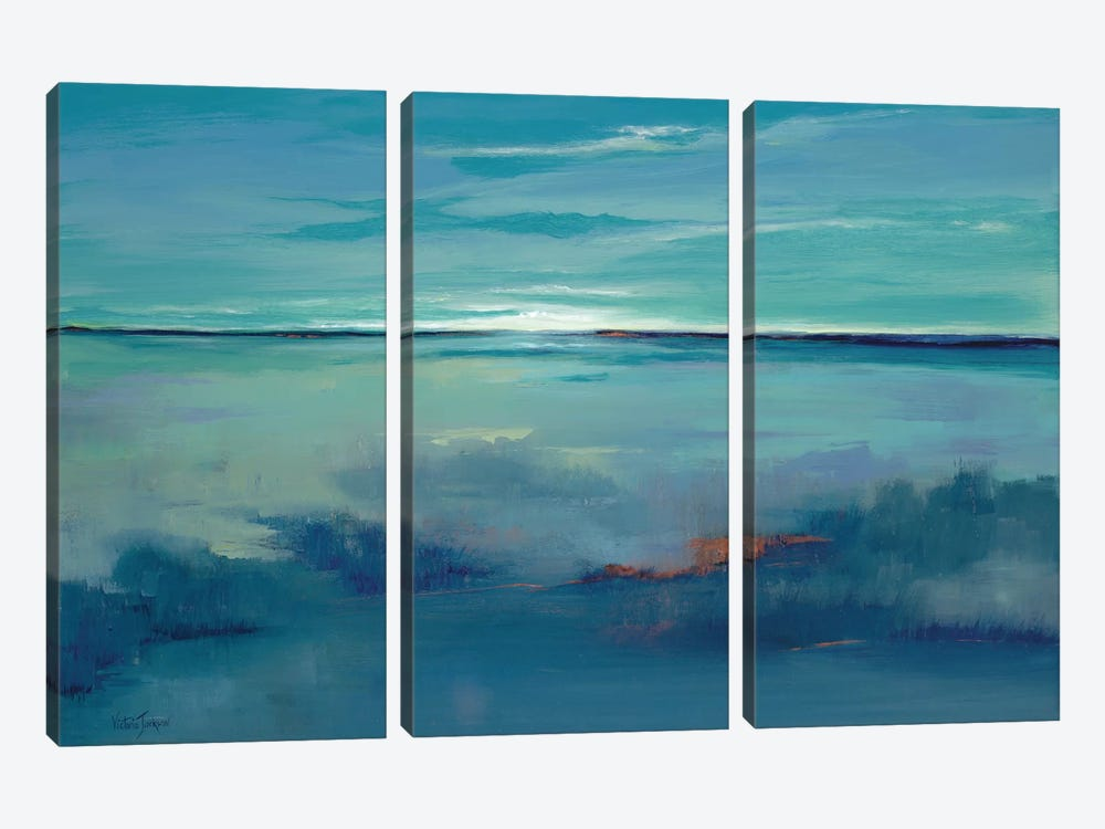 Blue Ciel 3-piece Canvas Print