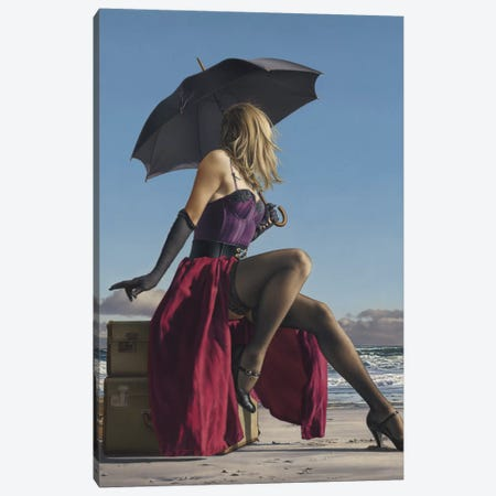 On Crescent Beach Canvas Print #ICS295} by Paul Kelley Canvas Artwork