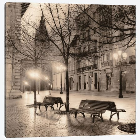 Plaza de Porlier, Oviedo Canvas Print #ICS29} by Alan Blaustein Canvas Print
