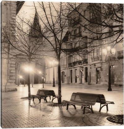 Plaza de Porlier, Oviedo Canvas Art Print