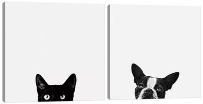 Curiosity and Loyalty Diptych Canvas Art Print