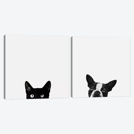 Curiosity and Loyalty Diptych Canvas Print Set #ICS2HSET001} by Jon Bertelli Canvas Art Print