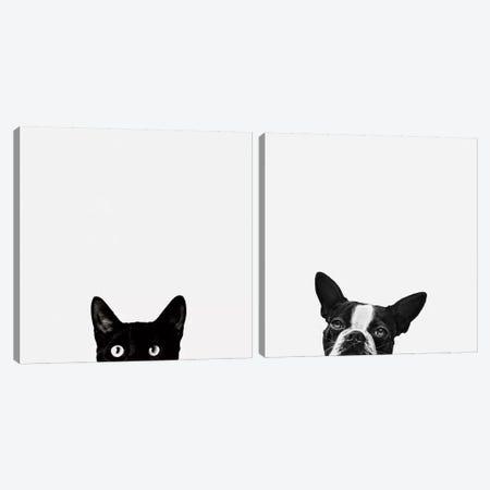 Curiosity and Loyalty Diptych Canvas Print Set #ICS2HSET001} by Jon Bertelli Canvas Art Print