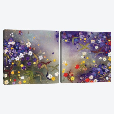 Gardens in the Mist Diptych Canvas Print Set #ICS2HSET006} by Aleah Koury Canvas Artwork
