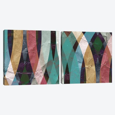 Geometric Design Diptych Canvas Print Set #ICS2HSET013} by GraphINC Studio Canvas Art