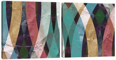 Geometric Design Diptych Canvas Art Print