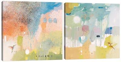 Hummingbird At Home Diptych Canvas Art Print
