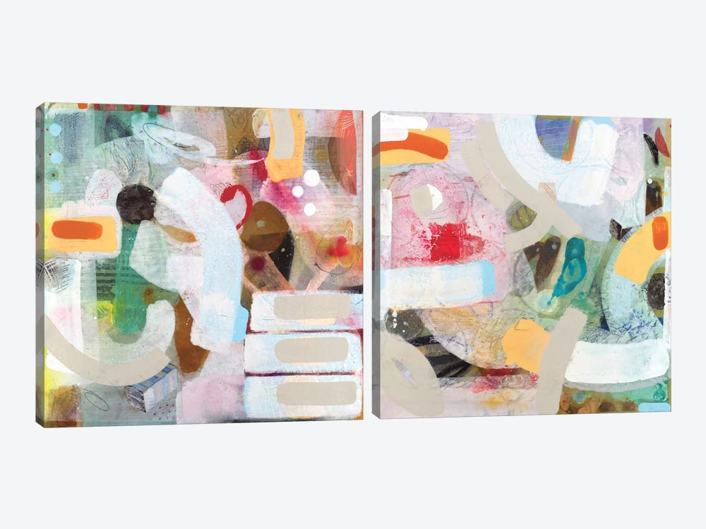 Changed My Mind Diptych by Aleah Koury 2-piece Canvas Art Print