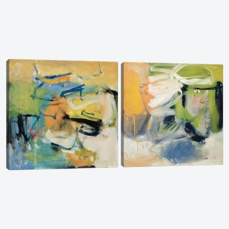 All That Jazz Diptych Canvas Print Set #ICS2HSET017} by Clara Blalock Art Print