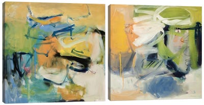 All That Jazz Diptych Canvas Art Print