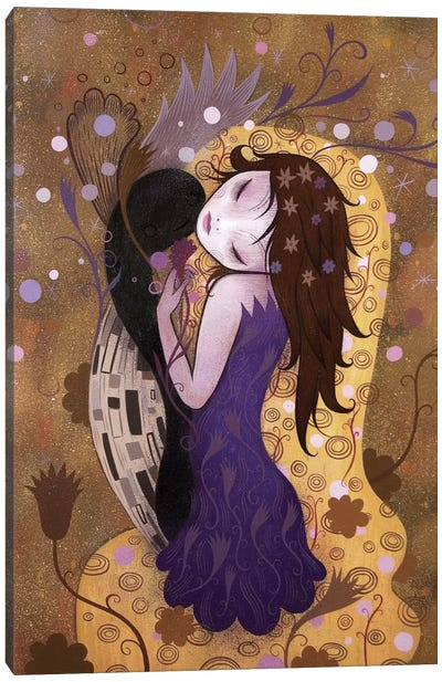 After the Kiss Canvas Art Print