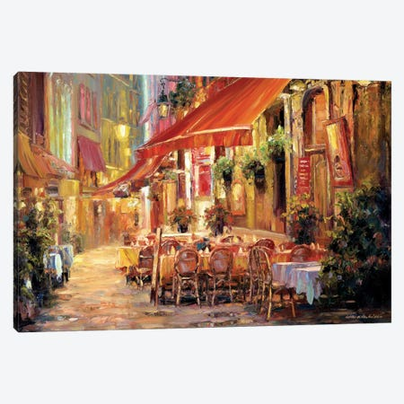 Café in Light Canvas Print #ICS344} by Haixia Liu Canvas Art