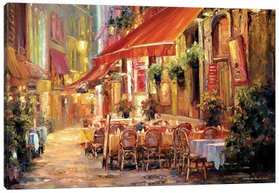 Café in Light Canvas Art Print