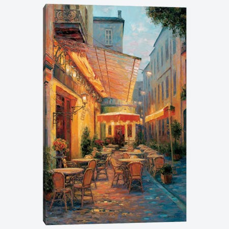 Café Van Gogh 2008, Arles France Canvas Print #ICS345} by Haixia Liu Canvas Artwork