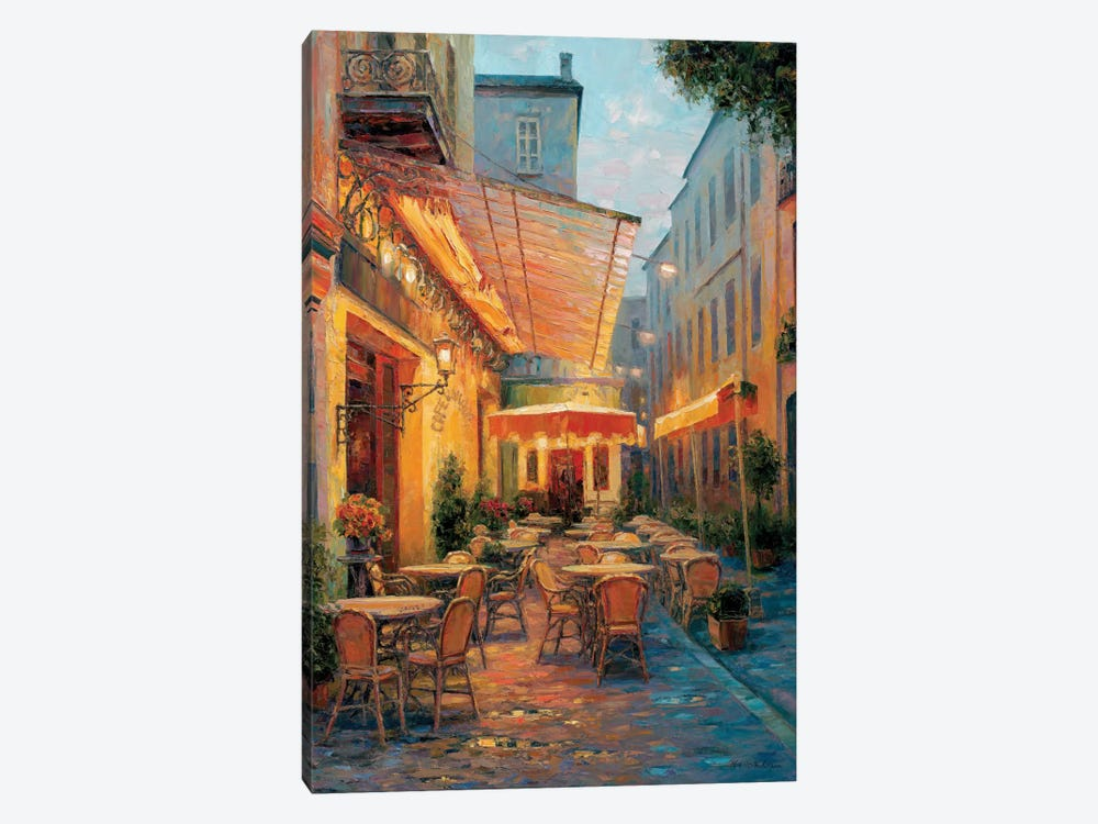Café Van Gogh 2008, Arles France by Haixia Liu 1-piece Canvas Print