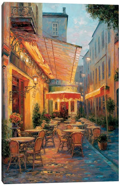 Café Van Gogh 2008, Arles France Canvas Art Print