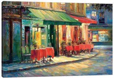 Red & Green Café Canvas Art Print